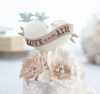 Love Is In The Air Wedding Cake Topper
